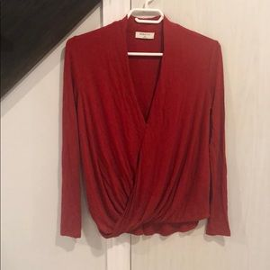 Babaton red top blouse